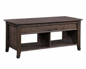 Sauder Carson Forge - lift-top coffee table in a dark brown finish