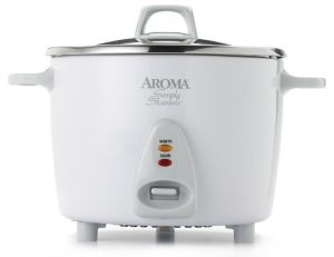 Aroma ARC-753SG rice cooker with a white finish