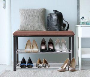 Costway 2-Tier Shoe Storage Rack Bench