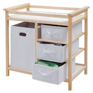 Costzon Changing Table With Storage wooden changing table