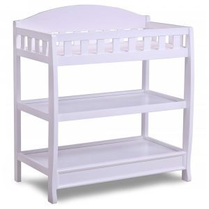 Delta Children Wilmington white wooden changing table