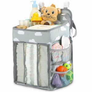 Maliton hanging diaper organizer with large space for diapers and care products