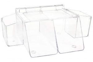 Acryllic changing table organizer with 4 rooms