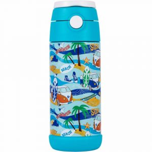 Snug Flask for Kids with a blue and multi-color finish