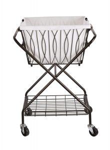 Artesa 5187033 Collapsible Metal Laundry Cart