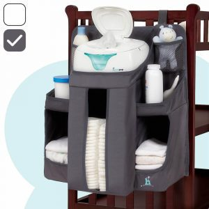 hiccapop nursery organizer with room for diapers and clothes