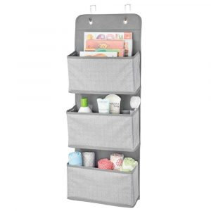mDesign hanging door storage organizer for changing tables and kids' rooms