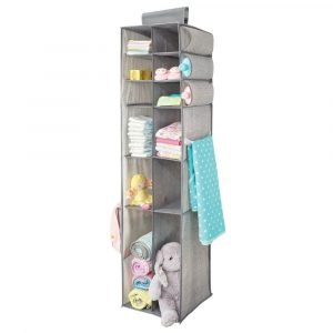 mDesign tall hanging storage organizer for changing tables
