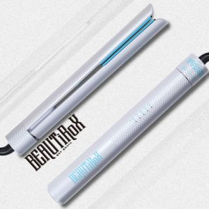 BEAUTIROX Flat Hair Iron in white-blue colors