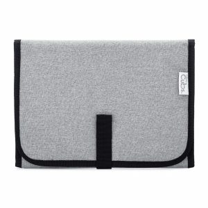 Comfy Cubs Simple Gray-Black Changing Pad