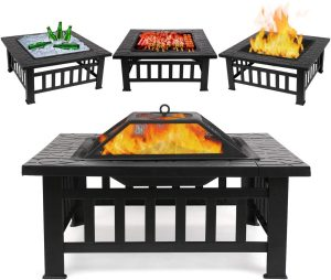 FIXKIT Multi-Functional Fire Pit for parties and backyard barbecues