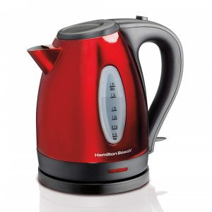 Hamilton Beach red and black electric kettle