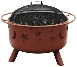 Landmann Big Sky Stars & Moons fire pit in Georgia clay finish