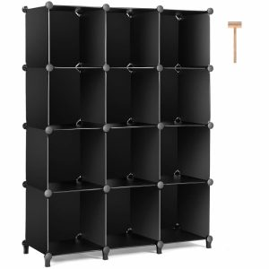 Stackable modular cube storage shelf