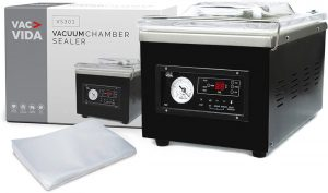 VAC-VIDA VS301 Chamber Vacuum Sealer with box and 100 bags
