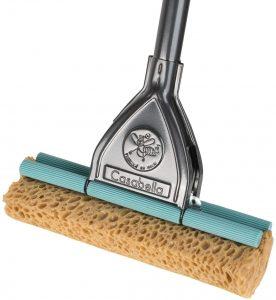 Floor mop cleaner with a steel handle