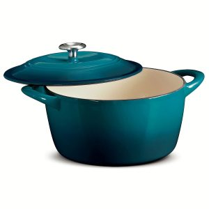 Tramontina blue enamel coated cast iron Dutch oven