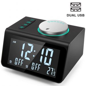 ANJANK Small Alarm Clock Radio