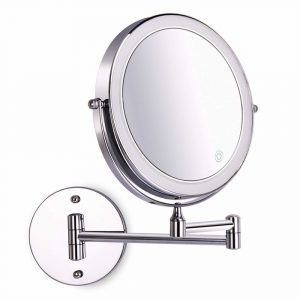 Amelar 8 Inch Wall Mounted Make-Up LED Mirror