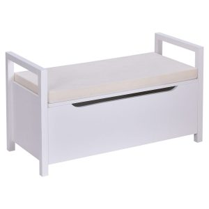 Giantex White Shoe Storage Bench