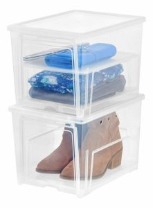 Plastic boxes for shoe storage