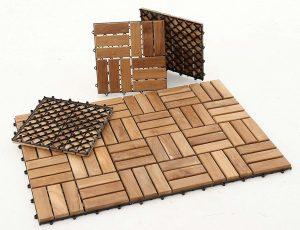 Nordic Style Natural Teak Tile (10 pcs.)