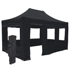 Vispronet Black 10x15 Steel Canopy Tent Kit