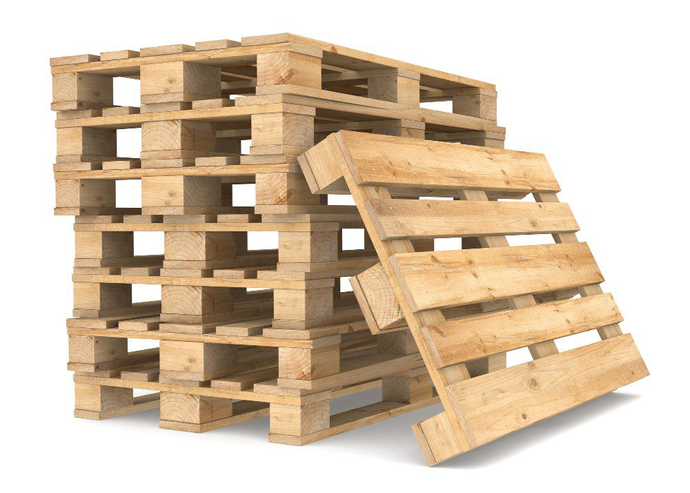 Pallets piled up on each other