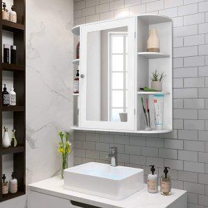 Bathroom mirror with a cabinet