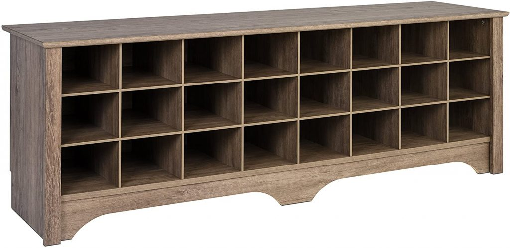 Prepac 24-Pair Shoe Storage Cubby Bench