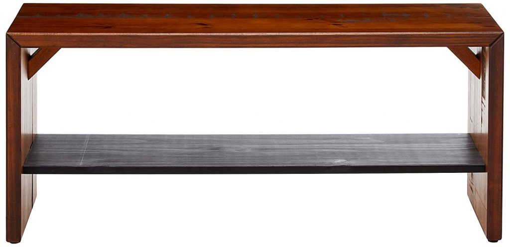 Walker Edison Furniture Company Rustic Wood Bench