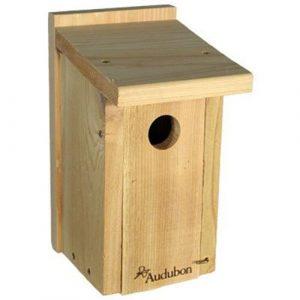 Wooden bird nest