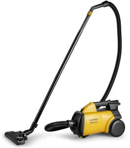 Eureka Mighty Mite yellow-black canister vacuum cleaner
