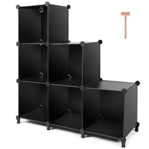 Black 6-cube closet organizer