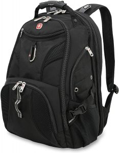 SWISSGEAR 1900 ScanSmart Laptop Backpack black with red detailing