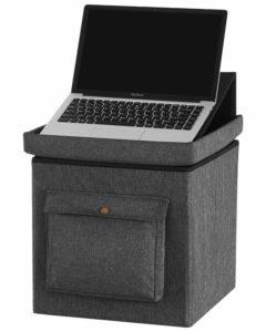 Multi-purpose laptop stand and storage box