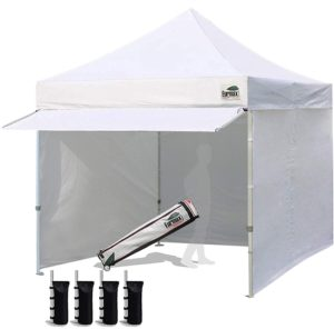 Eurmax 10x10 white market place tent with awning