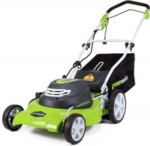 Greenworks 20-Inch Electric Corded Lawn Mower