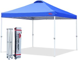 MASTERCANOPY blue pop-up commercial tent