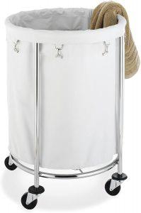 Whitmor Round Laundry Hamper on Wheels