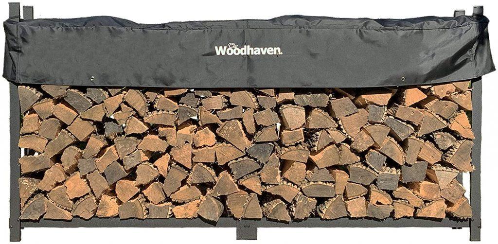Outdoor firewood storage rack