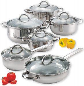 Cook N Home 12-Piece Cookware Set