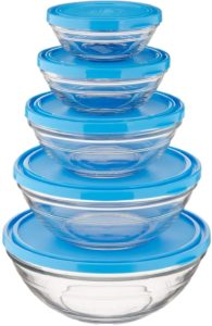 Duralex LYS Stackable Tempered Glass Bowl Set