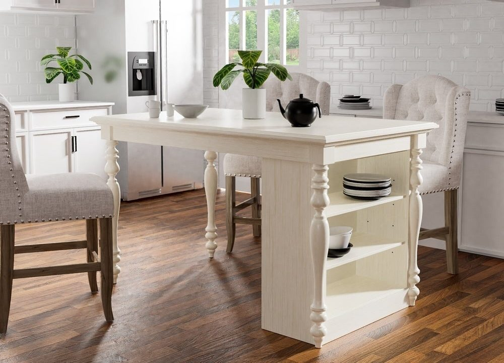 13 Freestanding Kitchen Islands With Seating (That You'll ...