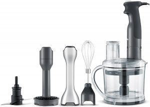 Breville BSB530XL the All In One Hand Blender with food processor, whisk, and blender shaft