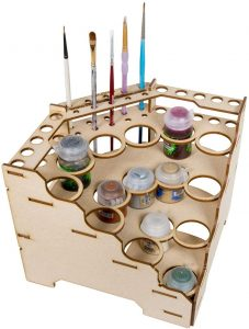 Paint rack for brushes and paint