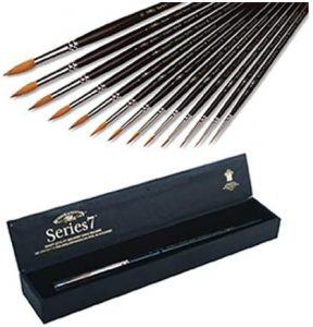Winsor & Newtons Series 7 Kolinsky Sable Watercolor Brushes