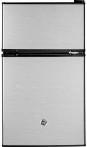 GE GDE03GLKLB mini fridge and freezer