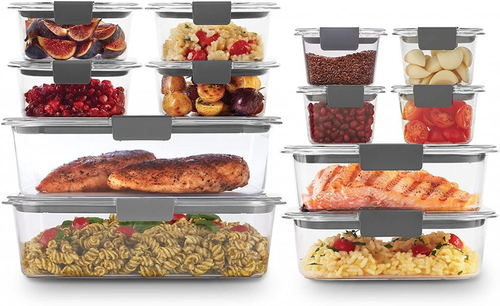 Airtight plastic food containers