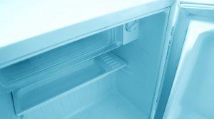 Empty mini fridge